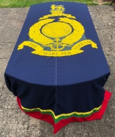 ROYAL MARINES FUNERAL DRAPE
