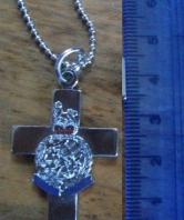 Royal Marines Small Cross on Chain