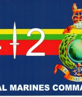 42 Commando Royal Marines Car Sticker, rectangular