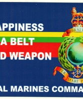 Happiness is a belt fed weapon Car Sticker