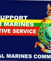 Support our marines on active service Car Sticker