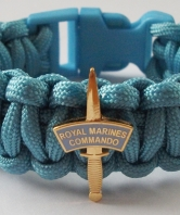 40 Commando Paracord Wristband - dagger and patch
