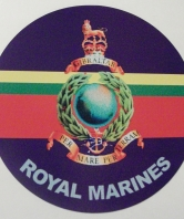 Royal Marines Round Car Sticker