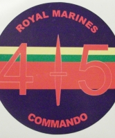 45 Commando Royal Marines Round Car Sticker