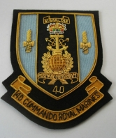 40 Commando Royal Marines Blazer Badge