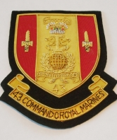 43 Commando Royal Marines Blazer Badge