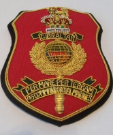 45 Commando Royal Marines Padded Blazer Badge