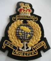 Royal Marines Blazer Badge - silver anchor