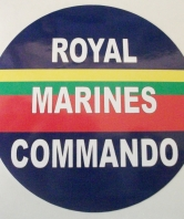 Royal Marines Commando Round Car Sticker