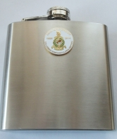 Hip Flask - round badge