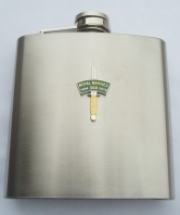 Hip Flask - Dagger and Patch