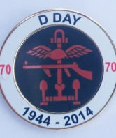 D Day 70th Anniversary Round Lapel Pin