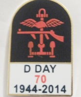 D Day 70th Anniversary Tombstone Lapel Pin