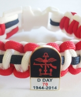 D Day 70th Anniversary Paracord Wristband Tombston