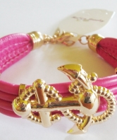 Fouled Anchor Bracelet - Dark Pink