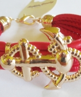 Fouled Anchor Bracelet - Red