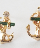 Fouled Anchor Earrings with stones