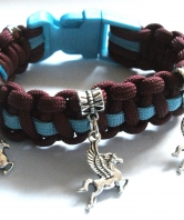 Parachute Regiment Ladies Pegasus Paracord Wristba
