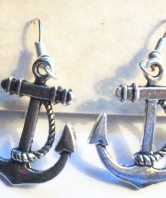 Royal Marines Ladies Fouled Anchor Earrings