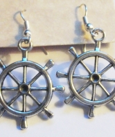 Royal Marines Ladies Ships Wheel Earrings