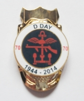 D Day 70th Anniversary Round Walking Stick Mount