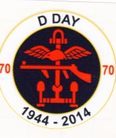 D Day 70th Anniversary Round Car Bumper Sticker