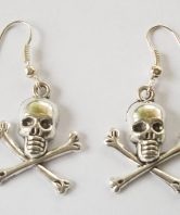 Royal Navy Ladies Submariner Skull Earrings