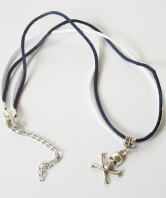 Royal Navy Ladies Submariner Skull Necklace