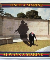 Once a Marine Always a Marine Car Sticker