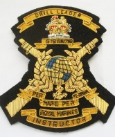 Royal Marines Drill Leader Instructor Blazer Badge
