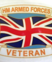 HM Armed Forces Veteran Car Sticker