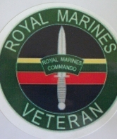 Royal Marines Veteran Car Sticker