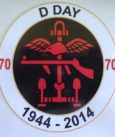 D Day 70th Anniversary Oval Car Bumper Sticker