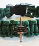 29 Commando Royal Artillery Paracord Wristband - D