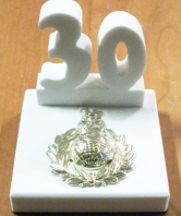 30 Commando RM White Stone Desk Ornament