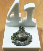41 Commando White Stone Desk Ornament