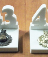 43 Commando White Stone Desk Ornament
