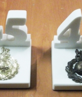 45 Commando White Stone Desk Ornament