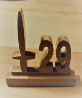 29 Commando RA Scrollsaw Desk Ornament