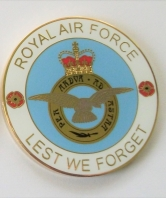 Lest We Forget Royal Air Force Coin in Sleeve