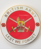 Lest We Forget British Army Coin in Sleeve