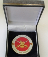 Lest We Forget British Army Coin in Box
