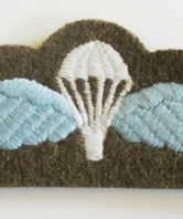 Paratrooper wings blue and white on battledress